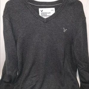 🌵American Eagle Mens Large Gray V-neck Sweater